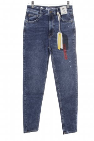 Pull & Bear Carrot Jeans steel blue classic style