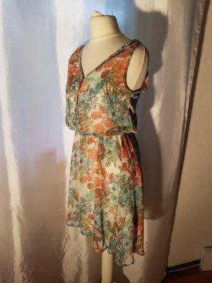Pull & Bear Chiffon Dress multicolored polyester