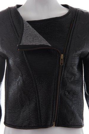 Pull&Bear Kurzjacke schwarz - grau  Bikerlook