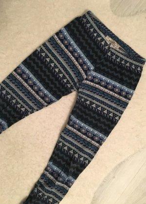 Pull&Bear Leggings mit Boho-Muster blau Gr.S