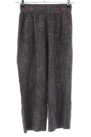 Pull & Bear Linen Pants brown-light grey flecked casual look