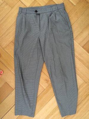 Pull & Bear 7/8-broek wit-zwart