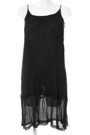 Pull & Bear Minikleid schwarz-goldfarben schlichter Stil