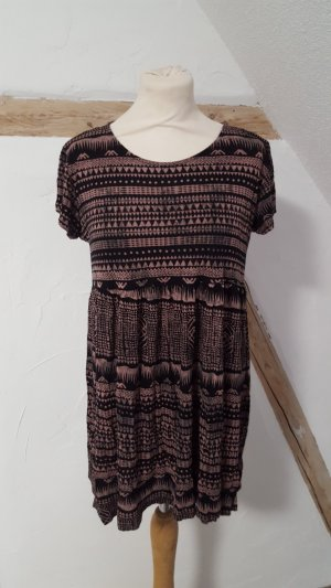 Pull & Bear Hippie Dress pink-black