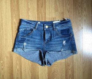 Pull & Bear - Neue High Waist Jeans Shorts Gr. 36