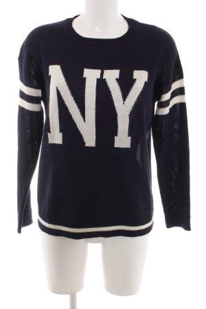 Pull & Bear Jersey holgados blanco-negro letras impresas look casual