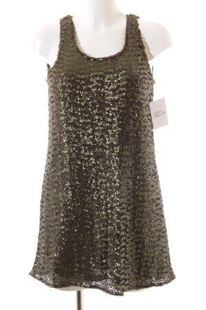 Pull & Bear Pailettenkleid grüngrau-khaki Elegant