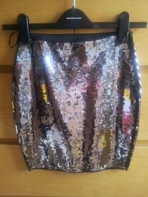 Pull&Bear Pailletten Rock Minirock 36 S neu Party Glitzer