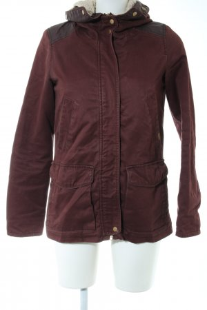 Pull & Bear Parka red casual look