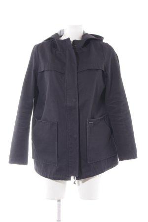Pull & Bear Parka dunkelblau schlichter Stil
