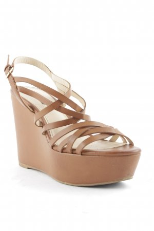 Pull & Bear Platform High-Heeled Sandal brown casual look