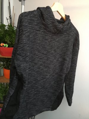 Pull & Bear Hooded Sweater dark grey-black