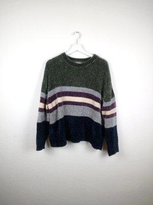 pull & bear pullover 40 42 L blau grün grau beige fashion blogger lagerfeuer