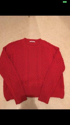 Pull & Bear Maglione lungo rosso