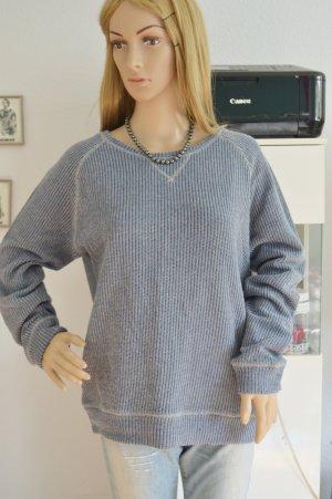 Pull & Bear Pullover XL blau melliert