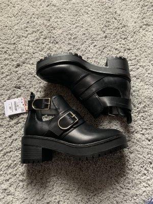 Pull & Bear Platform Booties black