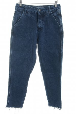 Pull & Bear Skinny Jeans dunkelblau Washed-Optik