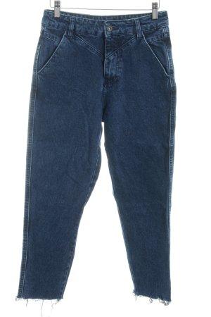 Pull & Bear Skinny Jeans dunkelblau Washed-Optik