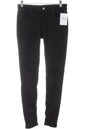 Pull & Bear Skinny Jeans schwarz schlichter Stil