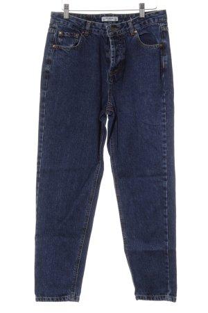Pull & Bear Skinny Jeans stahlblau Casual-Look