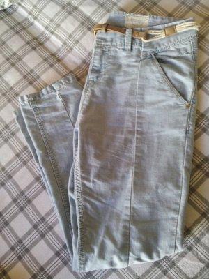 Pull & Bear Sport Denim Jeans Hose M 40 + Gürtel hellblau cool lässig