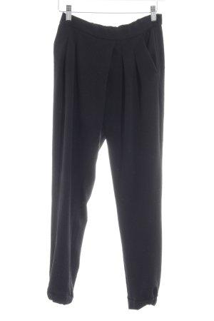 Pull & Bear Stoffhose schwarz abstrakter Druck Casual-Look