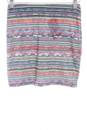 Pull & Bear Falda stretch estampado a rayas look casual