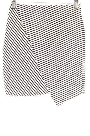 Pull & Bear Stretchrock weiß-schwarz Streifenmuster Beach-Look