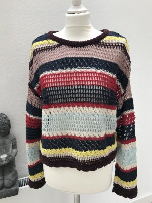 Pull & Bear Pull à gosses mailles multicolore