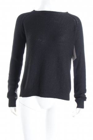 Pull & Bear Strickpullover schwarz Casual-Look