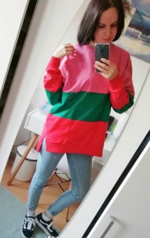 Pull & Bear Sweater Sweat Sweatshirt Jumper Pulli Color Block L