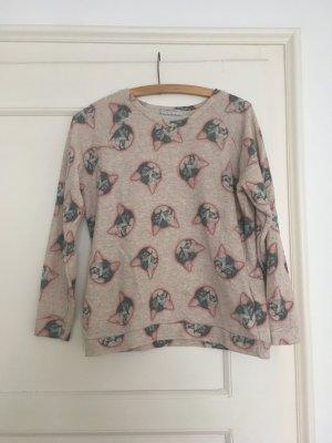 Pull&Bear Sweater Sweatshirt mit Katzen :) M / 38