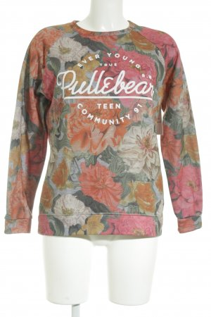 Pull & Bear Sweatshirt Blumenmuster Casual-Look