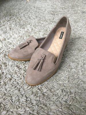 Pull & Bear Zapatos formales sin cordones camel-beige Viscosa