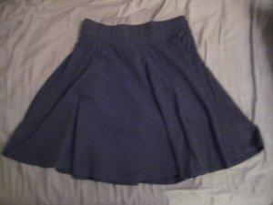 Pull & Bear Circle Skirt black cotton