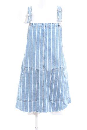 Pull & Bear Trägerkleid blau-weiß Streifenmuster Casual-Look