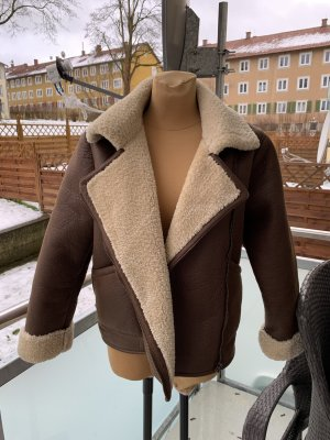 Pull & Bear Winterjacke in Braun