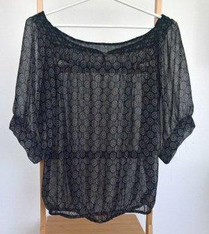 Pull&Bear® Xdye Damen Bluse mit Ethno Muster, Größe: M