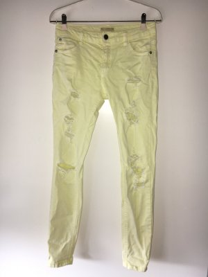 Pull&Bear yellow used/ripped Look Jeans