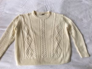 Pull & Bear Cable Sweater natural white