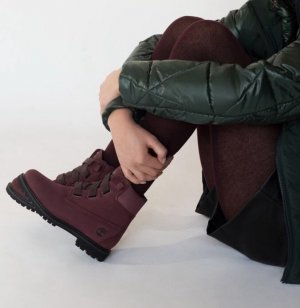 Timberland Botte courte bordeau