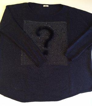 Maglione oversize blu scuro Cotone