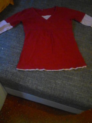 Robe pull rouge brique-rose clair
