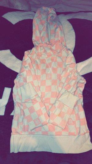H&M Maglione lungo bianco-rosa Cotone
