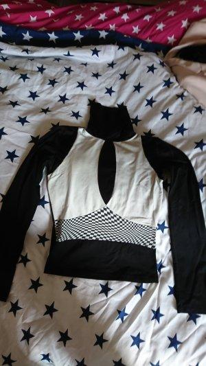 Pull blanc-noir