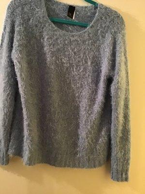 BC Pull tricoté bleu fluo laine