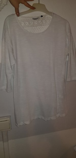 Only Short Sleeve Sweater white