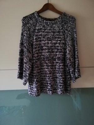 Mango Coarse Knitted Sweater natural white-dark blue