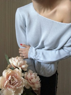 Vogue Coarse Knitted Sweater multicolored