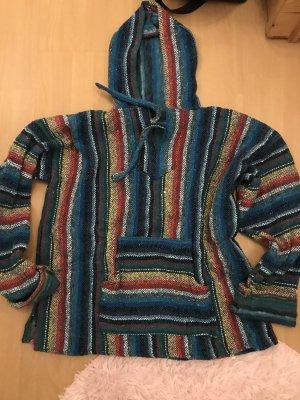 Pulli Baja Hoodie Pullover Aztek Ikat Ethno Boho Hippie Mexiko Handmade